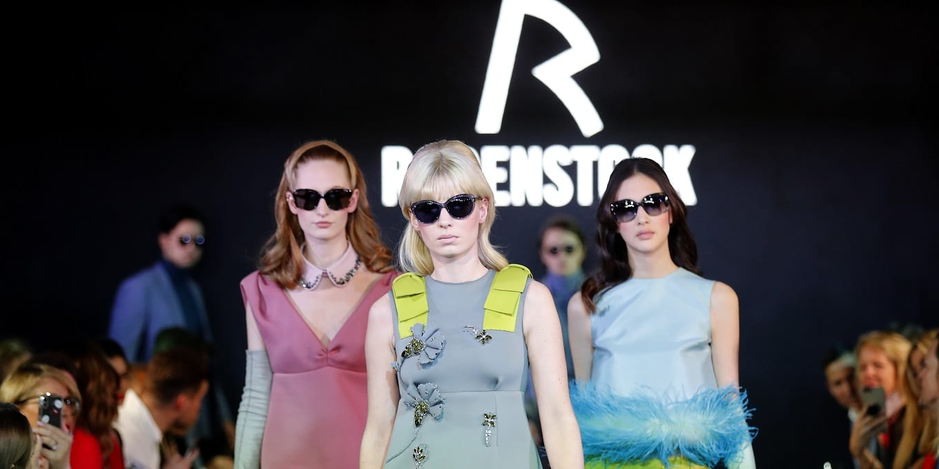 MUNICH, GERMANY - JANUARY 24: Model walk the runway during the Rodenstock Eyewear Show 'A New Vision of Style' at Isarforum on January 24, 2019 in Munich, Germany. (Photo by Franziska Krug/Getty Images for Rodenstock)