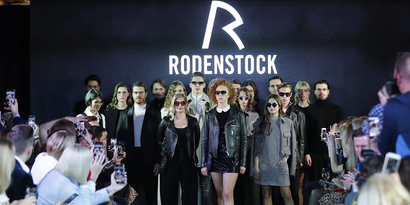 MUNICH, GERMANY - JANUARY 24: Group shot of the models during the finale of the Rodenstock Eyewear Show 'A New Vision of Style' at Isarforum on January 24, 2019 in Munich, Germany. (Photo by Franziska Krug/Getty Images for Rodenstock)